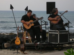 Beautiful beachside live Hawaiian music